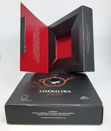 Impression et packaging de boite de thé THÉKILIBA