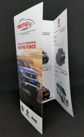 Dépliant 3 volets Prestige Auto