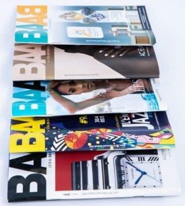 Impression de brochure piquée Baab