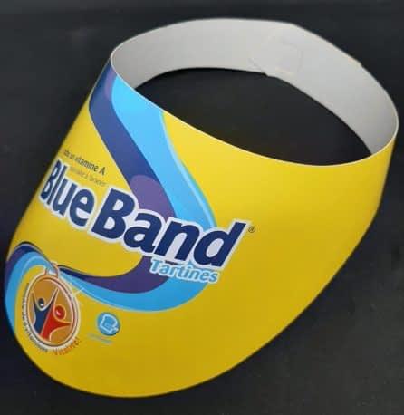 Fabrication de visière carton Blue Band