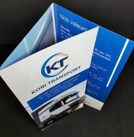 Imprimeur de dépliant 3 volets Kori Transport