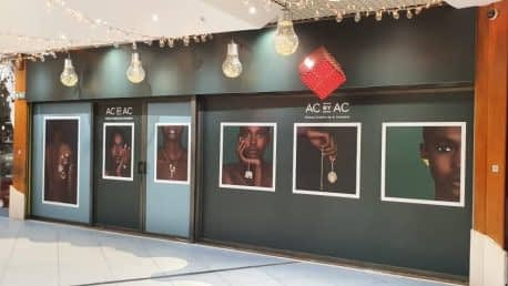 Impression adhésif à Abidjan vitrine A.Constant Cap Sud