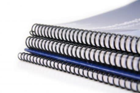 Impression de brochure avec reliure wire o
