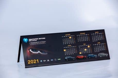 Impression de calendrier chevalet de bureau Tractafric