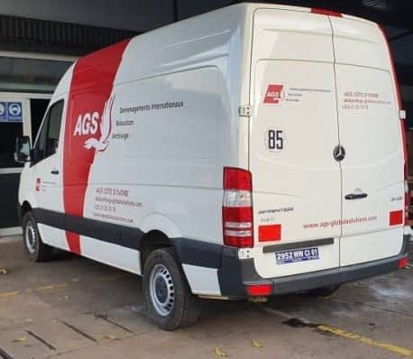 Branding de véhicule et lettrage adhésif pour covering AGS