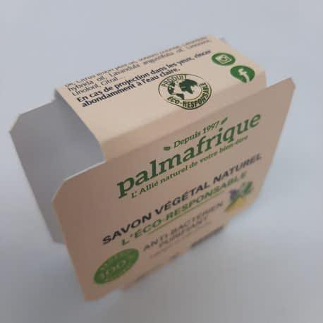 Impression et découpe d'emballage savon palmafrique