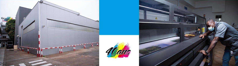 Atelier de 5400 m2 et impression numérique grand format