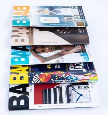 Impression de brochure piquée magazine Baab