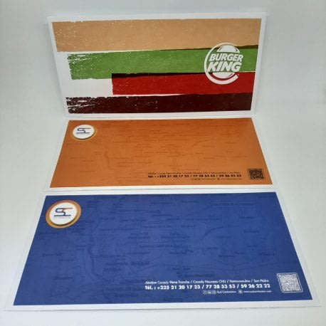 Enveloppes imprimées personnalisées